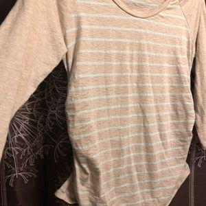 LIZ LANGE MATERNITY Stripe Top Blouse Shirt Large